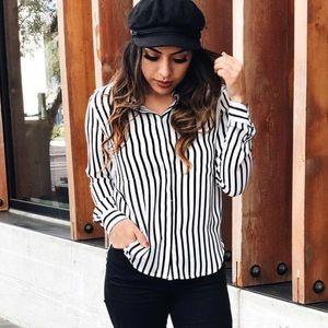 Tops - Black & White striped top